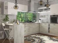 кухня ШАРЛОТТА крафт белый / белый - 858