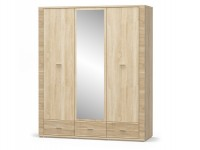 шкаф 3Д3Ш зеркало ГРЕСС - 1198
