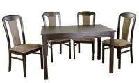 стол раскладной КАРПАТЫ+ 4 стула МОДЕНА - 824