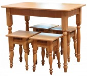стол кухонный + 4 табурета (16 мм) - 819