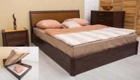 кровать СИТИ с интарсией и подъёмной рамой - 1369