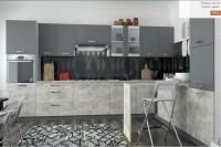 кухня ШАРЛОТТА ателье светлый / серый графит - 688