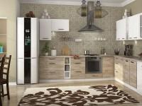 кухня ШАРЛОТТА крафт серый / белый - 702