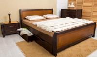 кровать СИТИ с интарсией и ящиками - 1363